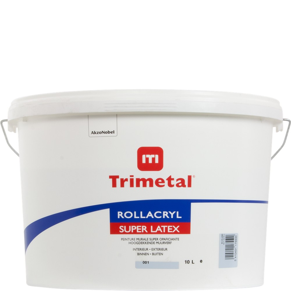 TRIMETAL ROLLACRYL SUPERLATEX 10L WIT