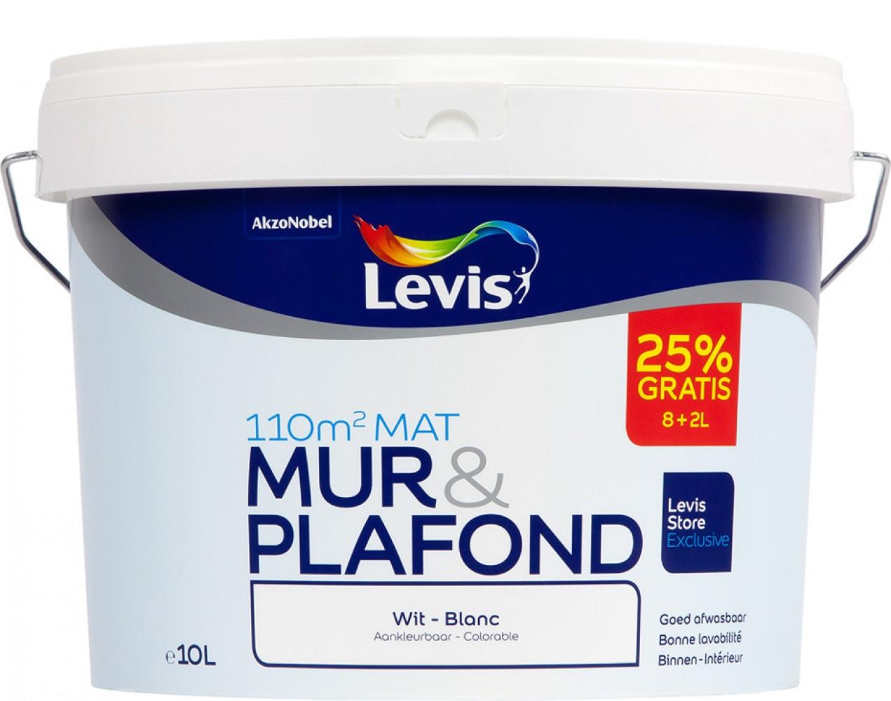 LEVIS MUUR EN PLAFOND SATIJN 8+2 WIT